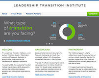 Leadership Transition Institute Website and Branding