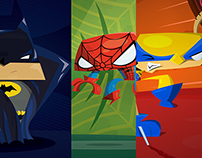 Superheroes fan art