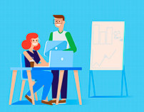 "Illustration for banner. ""Marketing TEAM"""