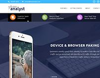 Website Homepage Design - SpamAnalyst.com