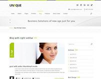 Unique - Magic / Power / Beauty Wordpress Theme