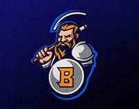 Barbarian mascot sports logo