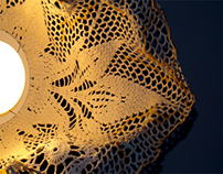 Lamp - readymade design from table cover