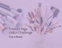Care to Beauty - Product Page UX&UI Challenge