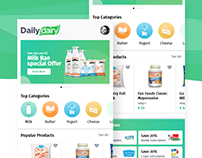 Daily Dairy App Concept