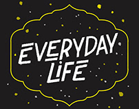 Coldplay- Everyday Life | Lyrics Typography