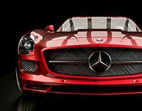Mercedes-Benz SLS Advertisement Animation