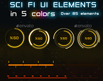 85 + Sci -Fi Game UI Elements