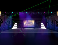 dance deewane stage design