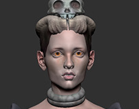 Fantasy female 3d character