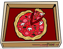PartyPizza - branding cafe