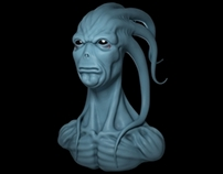 Skroll Alien Bust