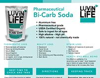 LuvinLife Bi-Carb Soda Leaflet