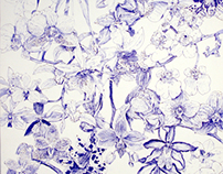 20cent ballpoint biro orchid illustration2