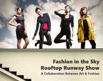 [ FASHION IN THE SKY ]  event poster