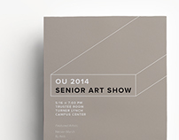 OU 2014 Senior Art Show Flyer