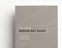 OU 2014 Senior Art Show Flyer