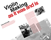Violin Making, as it was and is