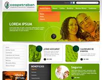 Coopetraban - diseño web