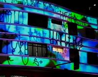 VIDEOGUERRILHA/ SP, Mapping e Vídeo na Rua Augusta.