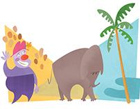 Bye bye, Elephants!/ Editorial Illustration