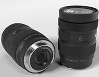 rendered images of camera lens (4K)