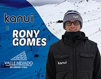 Kanui e Rony Gomes no Valle Nevado