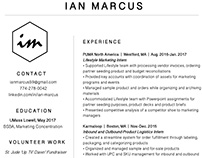 Ian's Resume Makeover