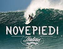 NOVEPIEDI Italian surf style logo 2014