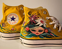 FLOWERS SHOES Customized Converse