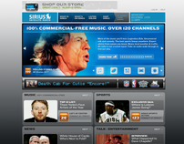 Sirius Satellite Radio - Site Redesign