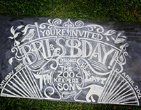 My 24th Birthday Chalkboard Invitation