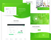 Start up Business App Landing Page