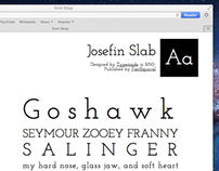 FontShop Web Type Specimen