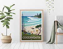 Coolangatta Surf Art Poster