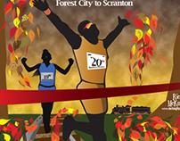 Steamtown Marathon Poster