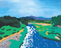 dolina rijeke