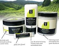 Capital Teas: T Skincare Brand Design