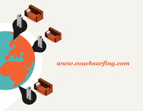 Couch surfing - illustrations