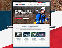 Home Page design Concept for Oil Sector Service Company