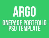 ARGO | One Page Portfolio PSD Template