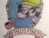 Atticus Finch the French Bulldog Tattoo