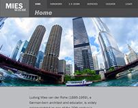 Responsive Website—Mies Van Der Rohe