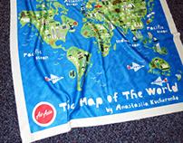 Cartoon Maps for AirAsia