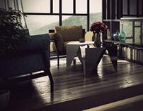Mondrian Inspired Hotel Room