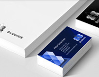 Broderick Architect firm Identity.