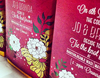 J+B Wedding invite