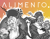 ALIMENTO - Kombucha & Jun label