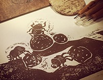 woodcut for children's book