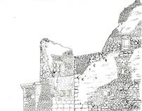 Château de Lacoste Outline